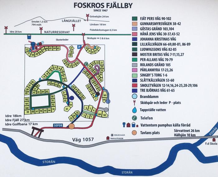 Karta över Foskros stugby